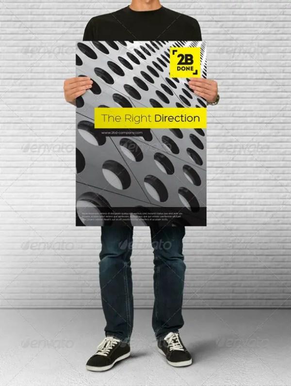 Poster Holding Mock-up