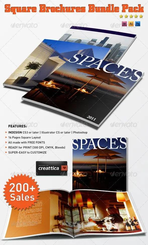 Square Brochures Bundle Pack