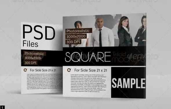 Square Tri-fold Mockup
