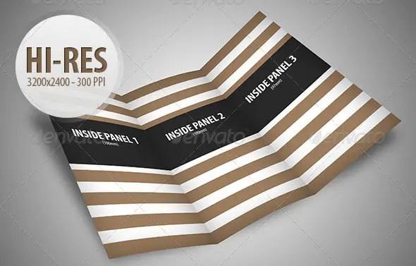 Tri-fold Brochure Mockup Pack