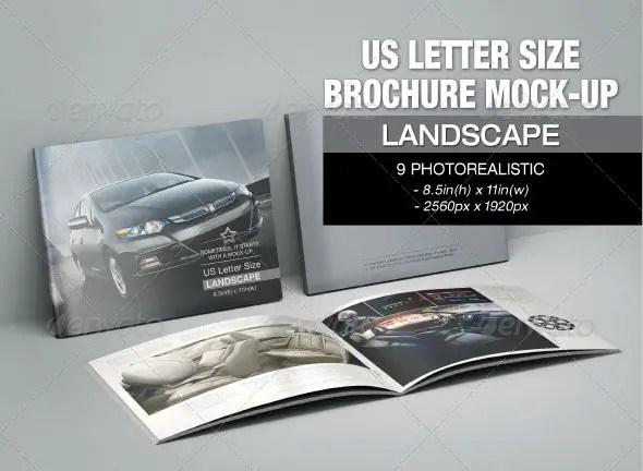 US Letter Size Brochure Mockup