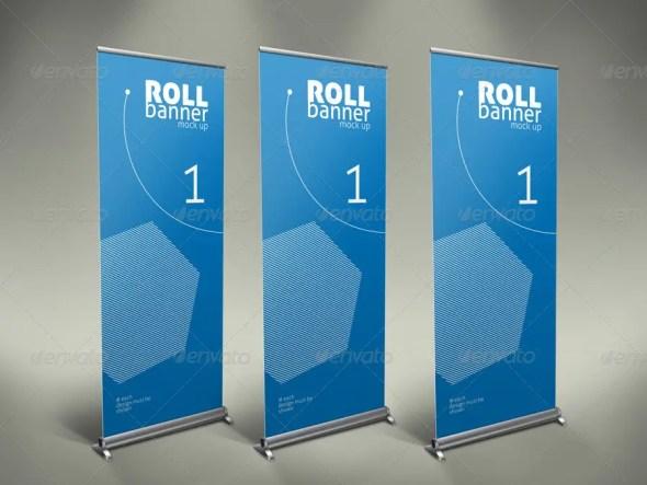 Elegant Professional Roll Up Banner Mock Up