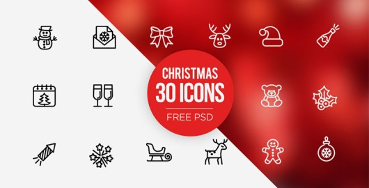 Free PSD Christmas Icons Set