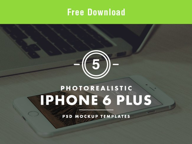 Photorealistic iPhone 6 Plus PSD Mockup Templates