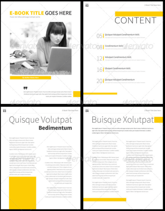 Simple E-Book Template