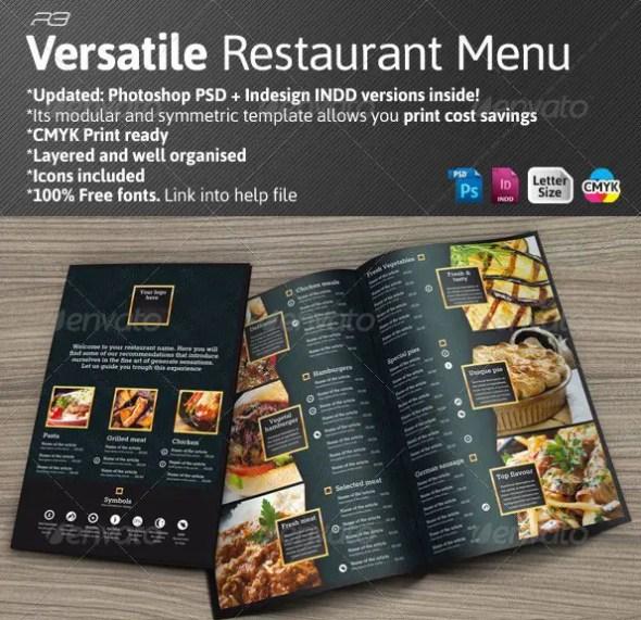 40 psd indesign food menu templates for restaurants. Black Bedroom Furniture Sets. Home Design Ideas