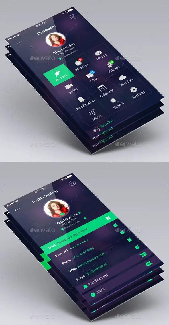 Clean Flat App UI Design Kit