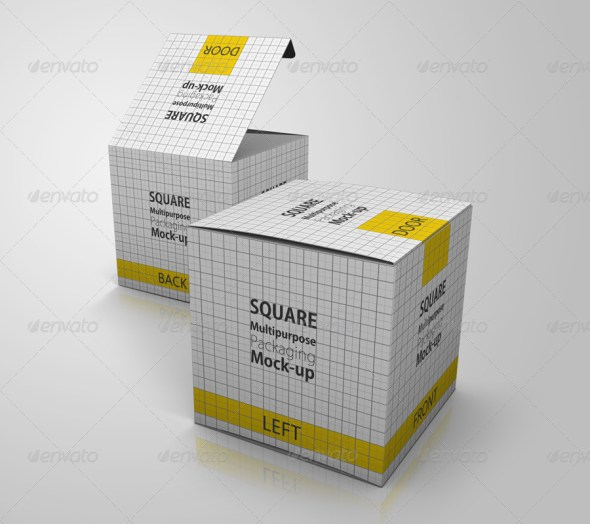 Multipurpose Square Package/Box Mock up