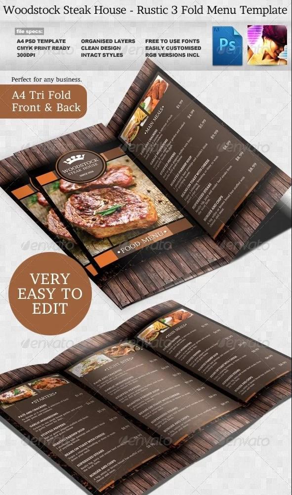 Menu Template Indesign Free Kleobeachfixco - Indesign restaurant menu template