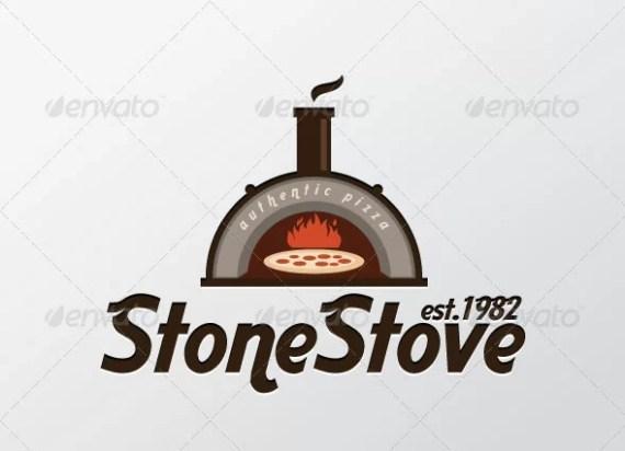 Stone Stove Pizza Logo Template