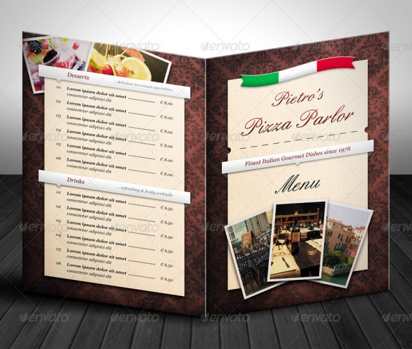Universal Gourmet Restaurant Menu