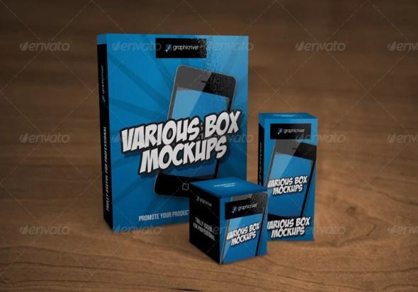 Various Box Mockups