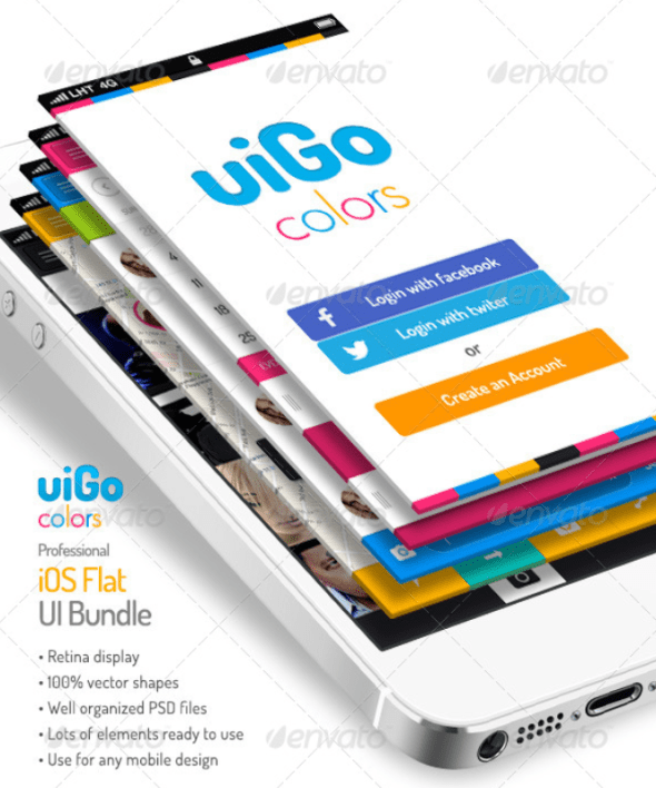 uiGo Colors - iOS Flat UI Bundle