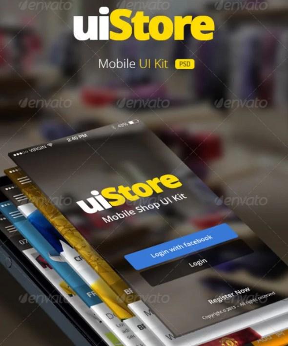 uiStore - Mobile UI Kit