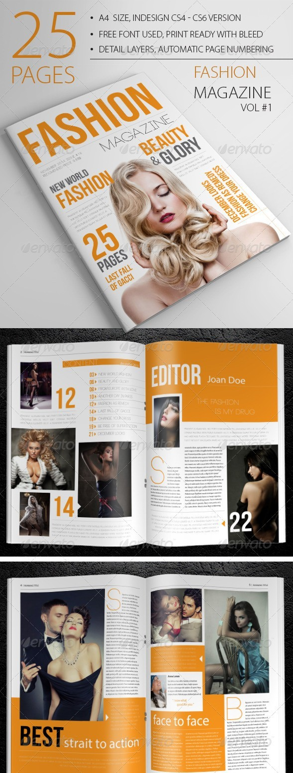 25 Pages Fashion Magazine Vol1