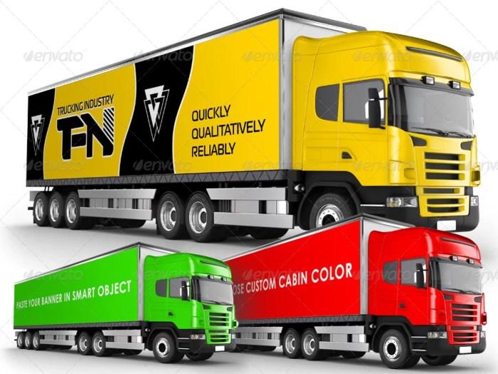 Branded Trailer (Truck) Mockup