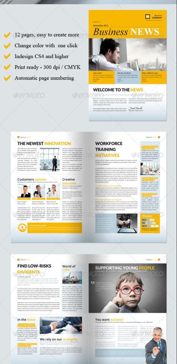 46 printable newsletter templates in psd indesign formats business newsletter template vol iii accmission Gallery