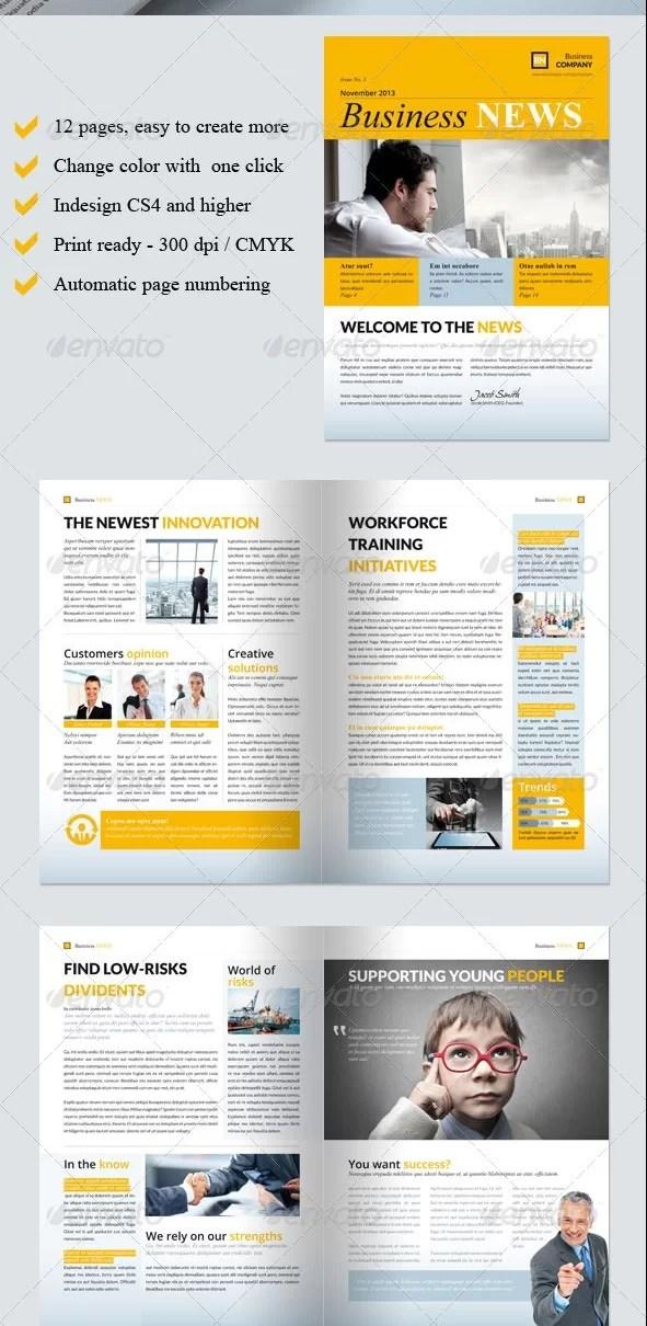 Business Newsletter Template Vol. III
