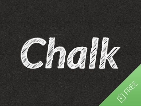 Chalk Text Effect