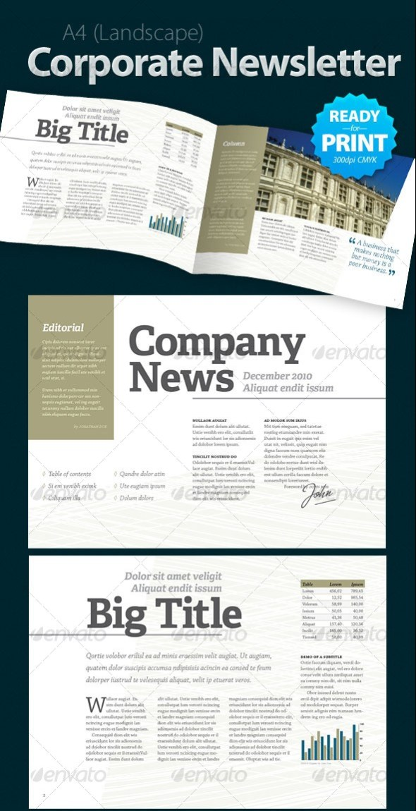 Corporate-Newsletter-4-pages-e1454636797513  Page Newsletter Template Indesign on indesign layout templates, create your own newsletter templates, yearbook page layout templates, print newsletter templates,