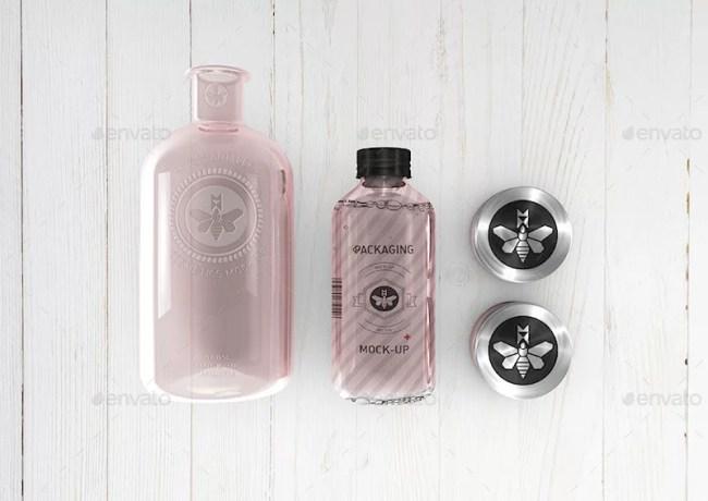 Cosmetics Mockup - Boston Round Bottle Mockup