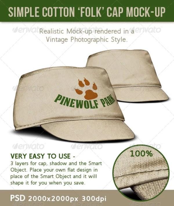 Cotton Cloth or Canvas Folk Style Hat