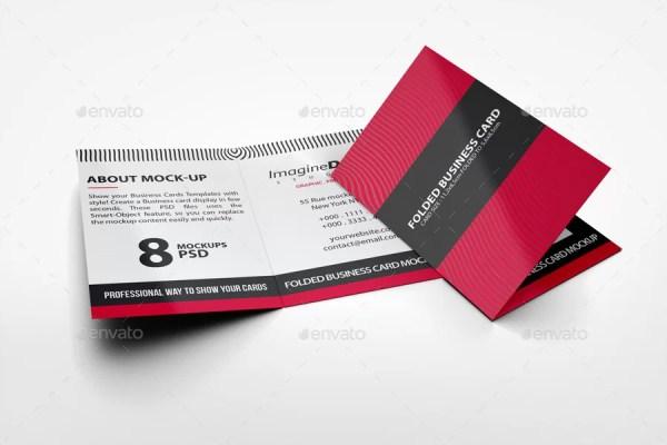 Folded Business Card Mockup V2