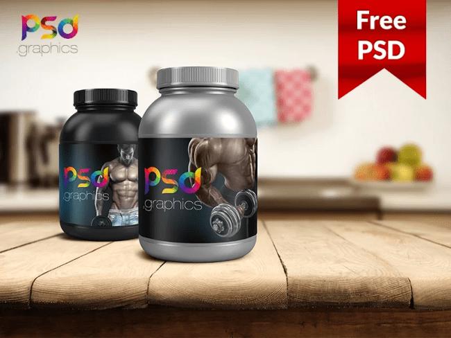 Free Protein Jar Mockup