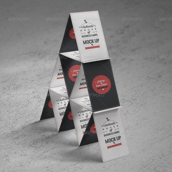 House of Business Cards Mockup