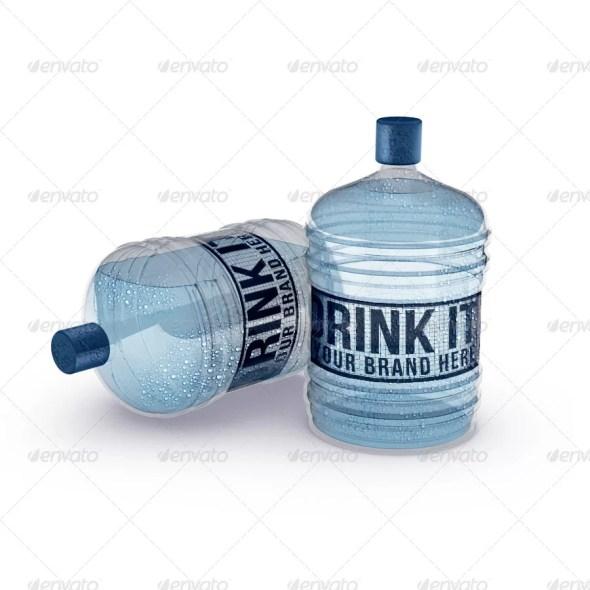 Large Water Bottles Mockup
