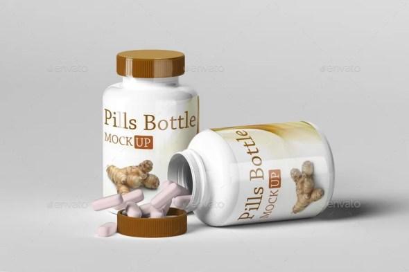 Pills Bottle Mockup Set.1