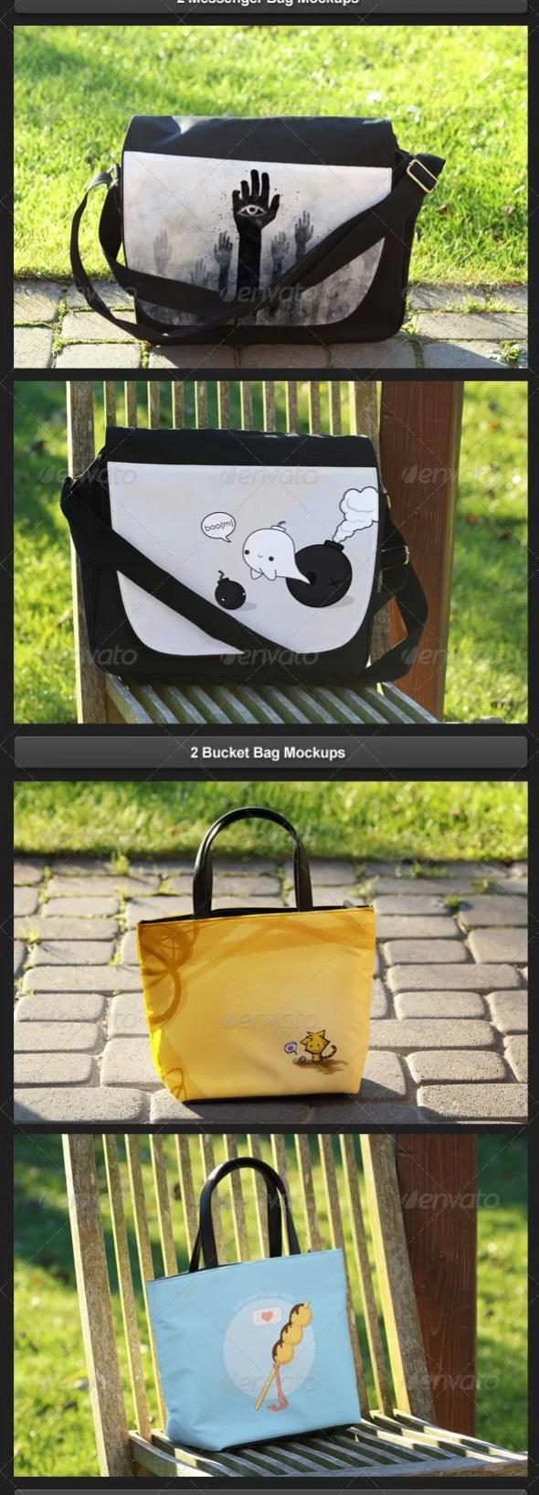 Realistic Bag Mockups