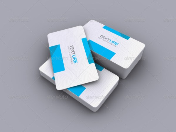 Realistic Round Corner Business Card Mockup