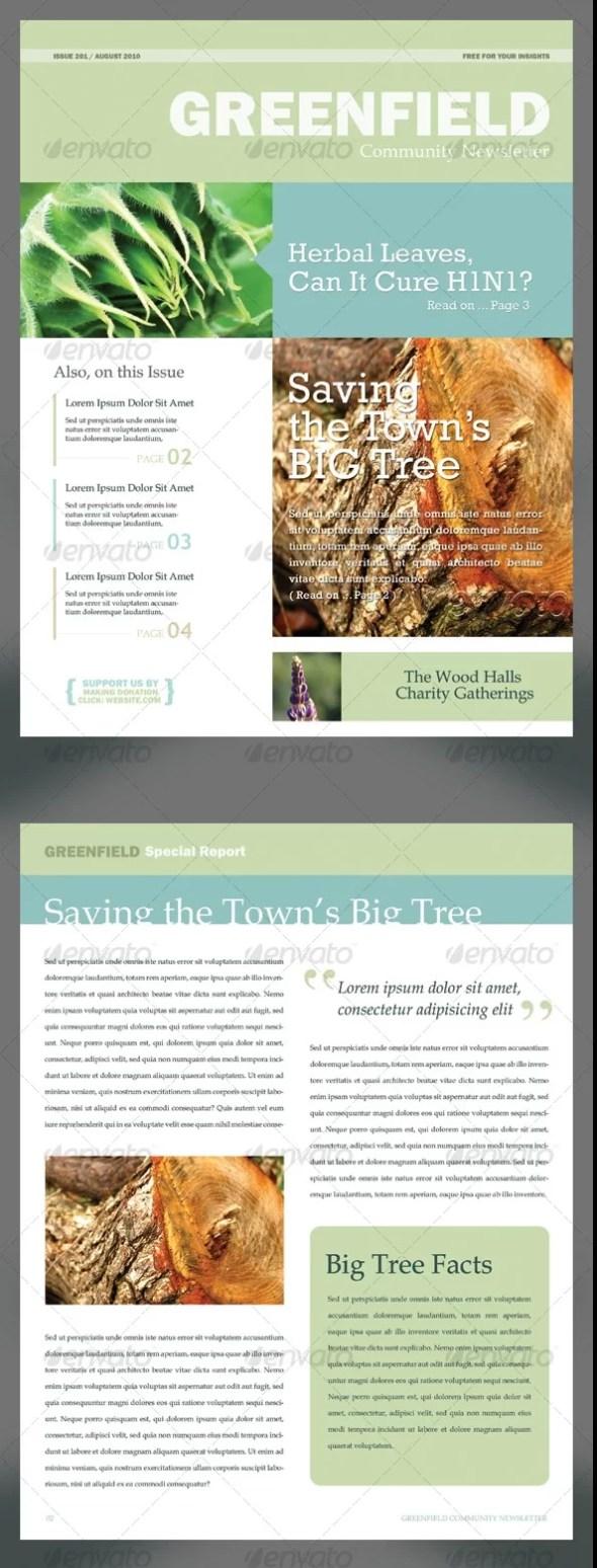 Soft & Clean Newsletter PSD Template