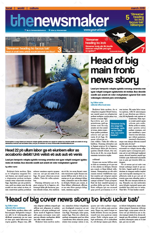 Tabloid Newspaper Template