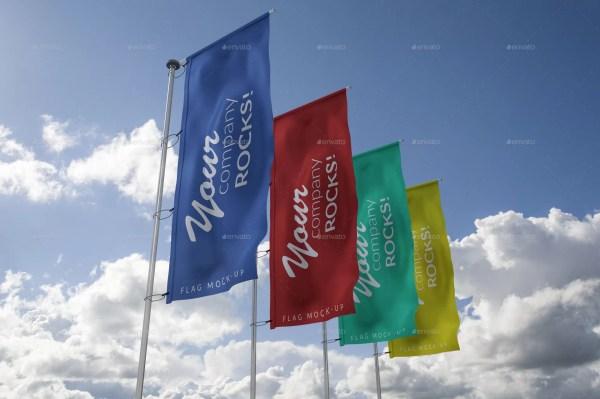 4 Flags Mockup