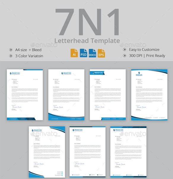 Free Photoshop Letterhead Templates: 12+ Free Letterhead Templates In PSD MS Word And PDF