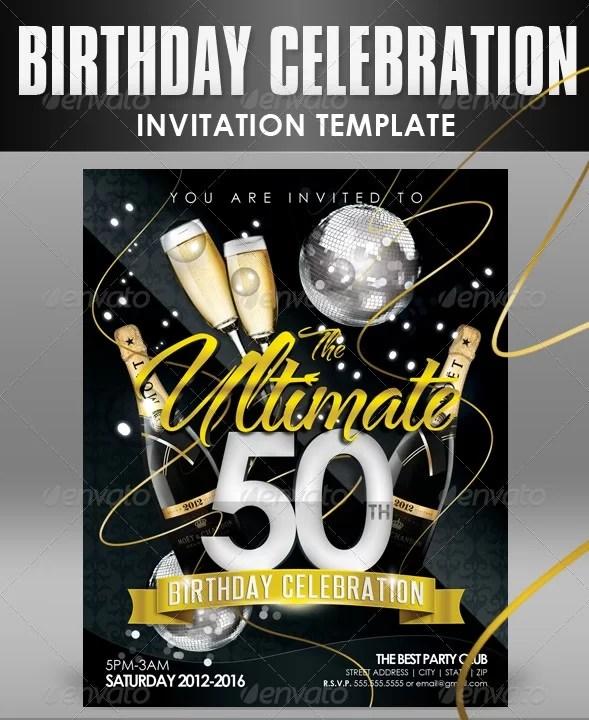 best birthday invitation templates psd