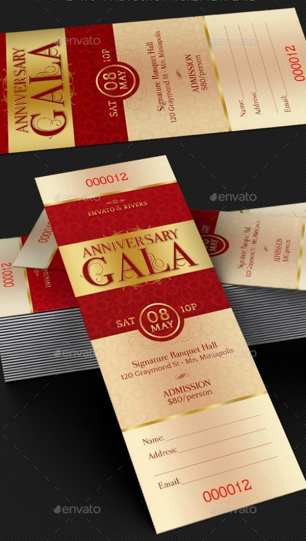 46  print ready ticket templates psd for various types of