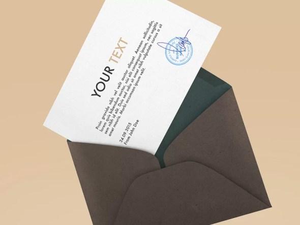 Free Envelope Mockup 2