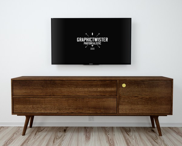 Free Tv Living Room Mockup