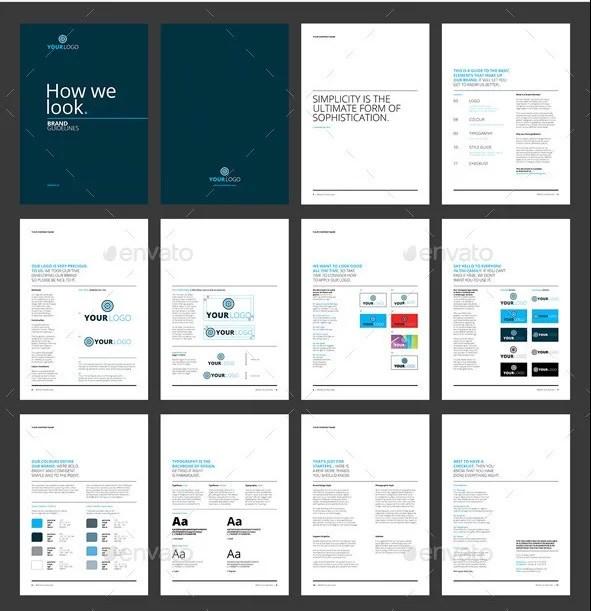 23 best brand guidelines templates psd indesign download rh psdtemplatesblog com InDesign Brochure Templates InDesign Brochure Templates