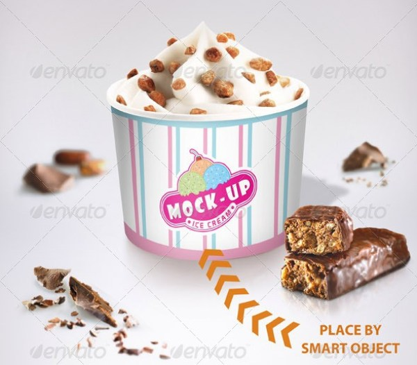 Ice Cream Sundae Mockup