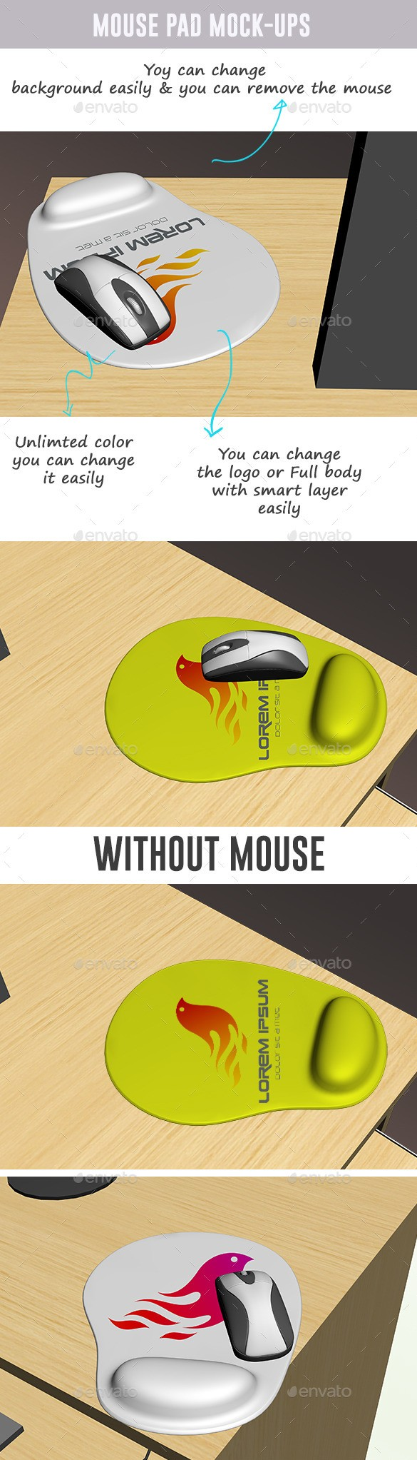 Mouse Pad Mockups