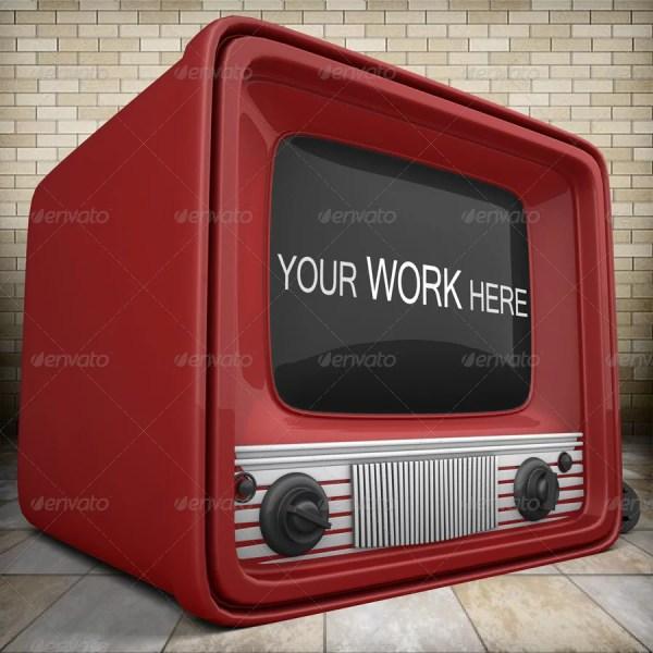 Old TV Mockup