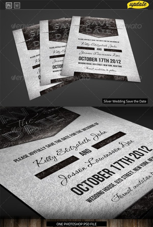 Silver Wedding Template