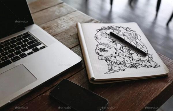 Sketchbook Mockup v.2