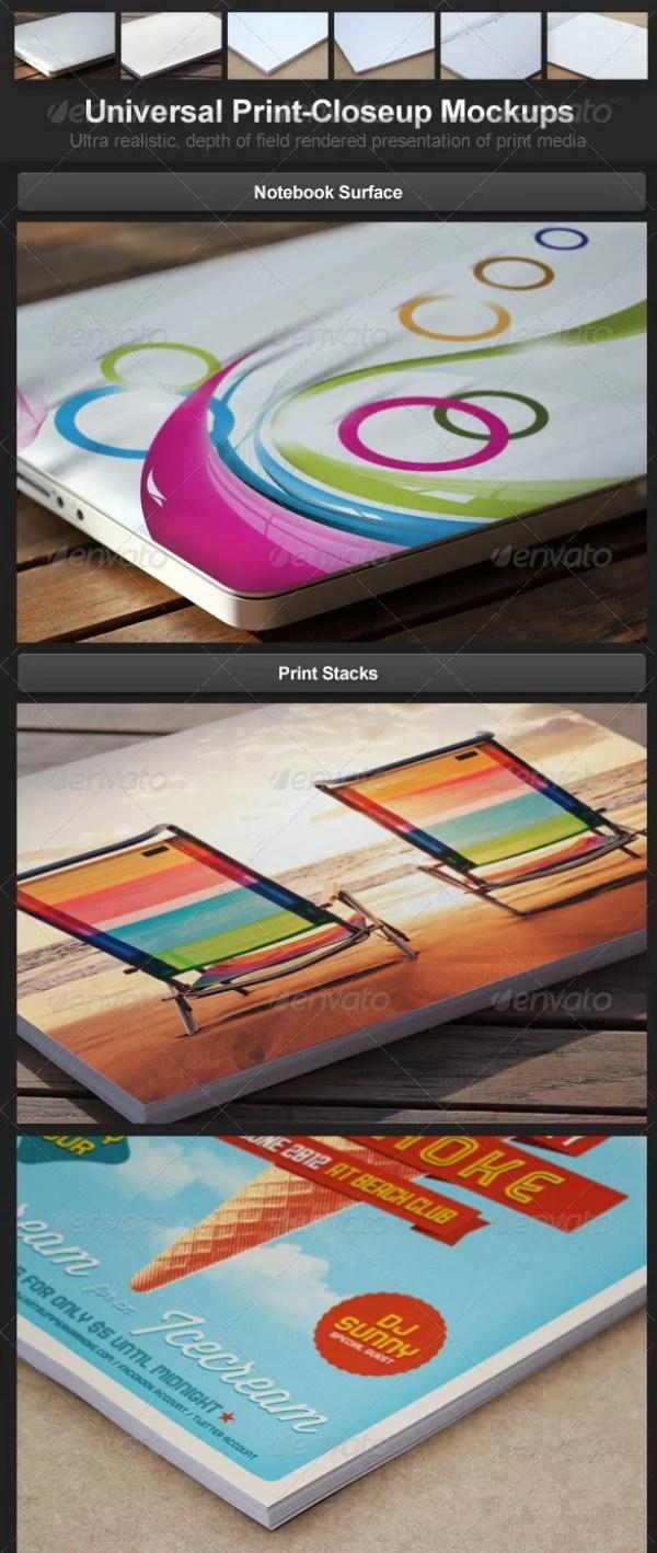 Universal Print Closeup Mockups