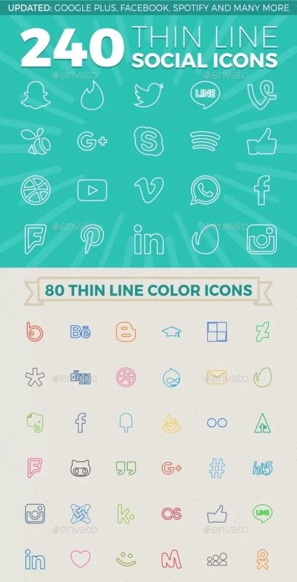 240 Social Icons