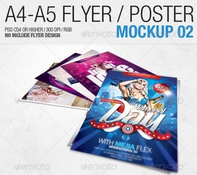 A4 - A5 Flyer Mockup 02